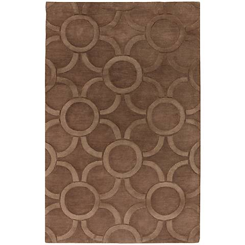 Chandra Antara ANT157 Brown Wool Area Rug