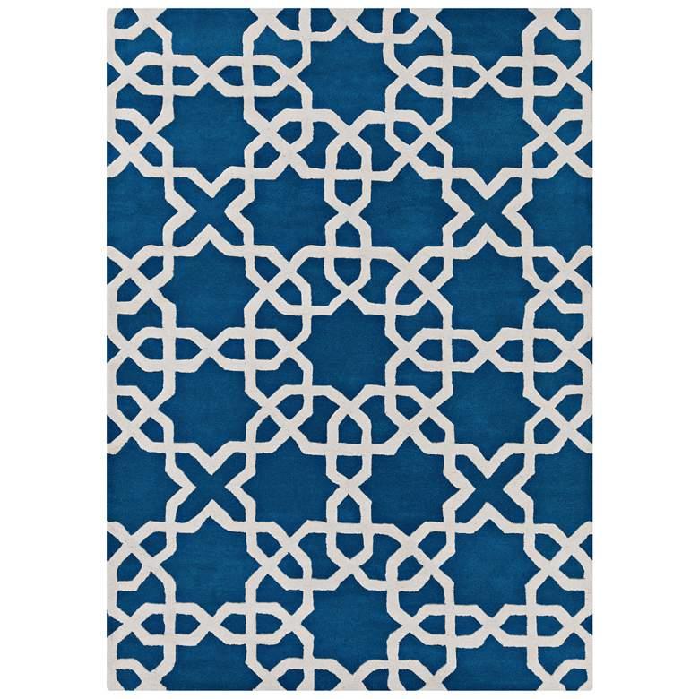 Chandra Davin DAV25804 Blue Wool Area Rug