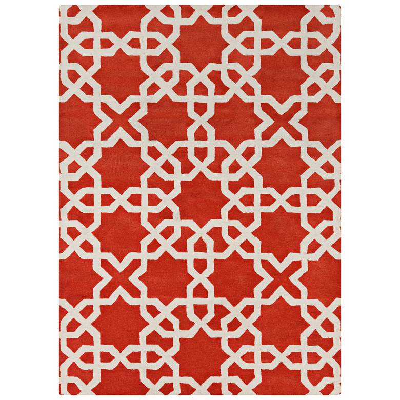 Chandra Davin DAV25805 Red Wool Area Rug