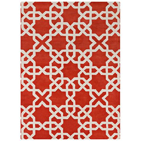 Chandra Davin DAV25805 Red Wool Area Rug