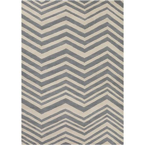 Chandra Davin DAV25808 Gray Wool Area Rug