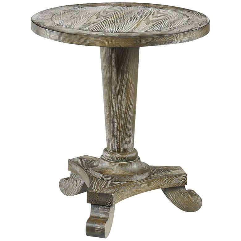 "Hidden Treasures 22"" Wide Ash Wood Pedestal Table"