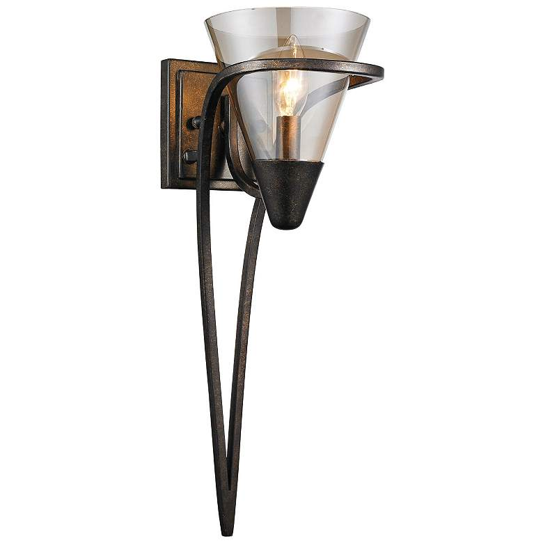 """Olympia 19 1/2"""" High Burnt Sienna Wall Sconce"""