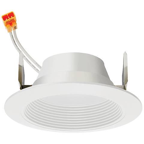 "4"" Juno 11.5 Watt 2700K Baffle LED Retrofit Trim in White"