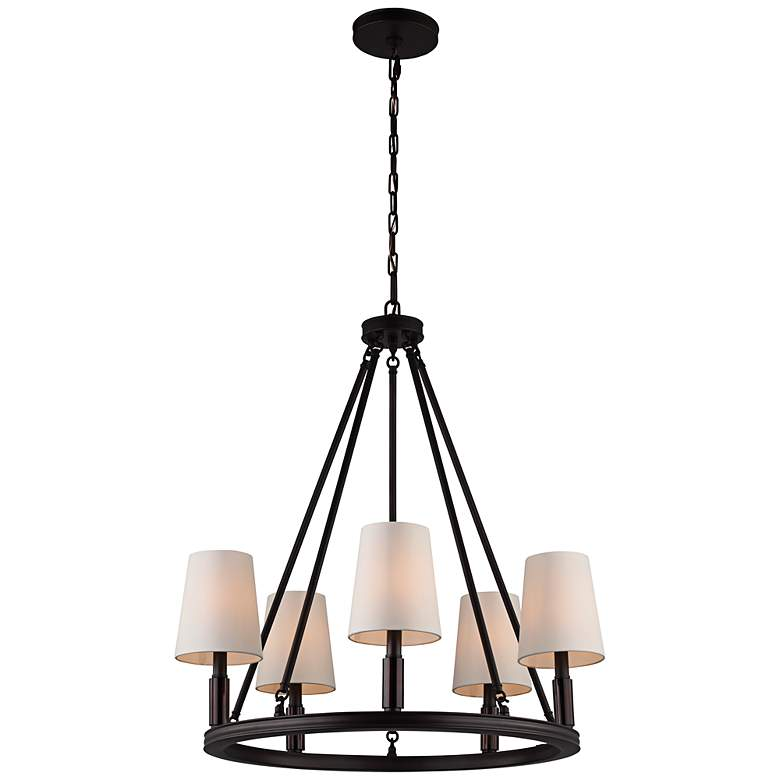 """Feiss Lismore 28 1/4"""" Wide Oil-Rubbed Bronze Chandelier"""