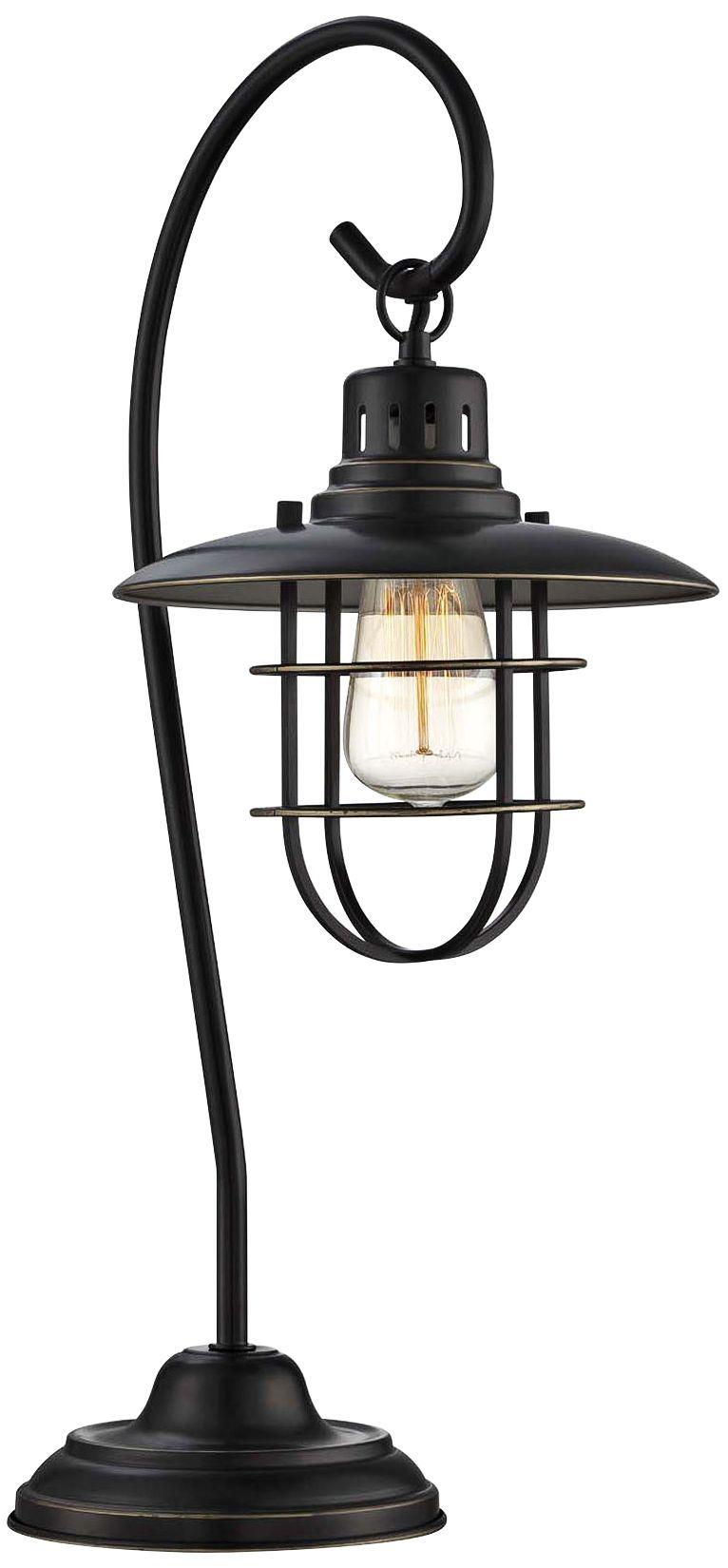 Genial Lite Source Laterna II Deep Bronze Metal Table Lamp