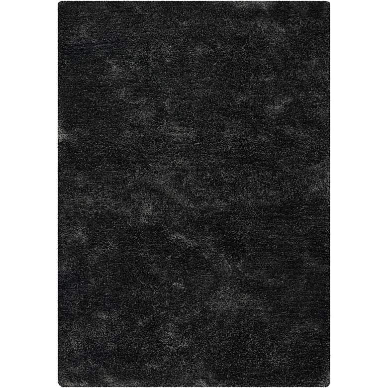 "Chandra Edina EDI18400 5'x7'6"" Charcoal Shag Area Rug"