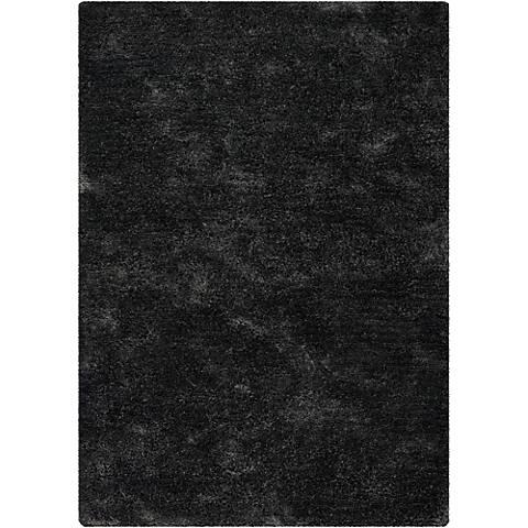 Chandra Edina EDI18400 Charcoal Shag Area Rug