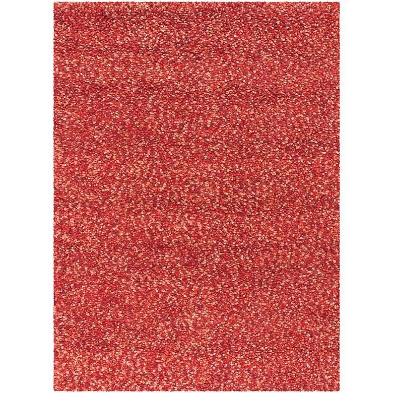 "Chandra Gems GEM9600 5'x7'6"" Red and Purple Shag Rug"