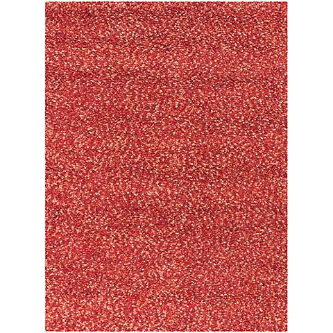 Chandra Gems GEM9600 Red and Purple Shag Rug