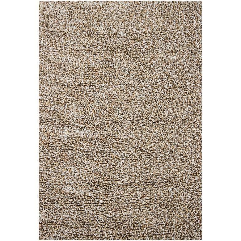 "Chandra Gems GEM9603 5'x7'6"" Taupe and Ivory Shag Rug"