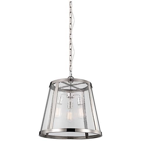 "Feiss Harrow 19"" Wide Polished Nickel Pendant Light"