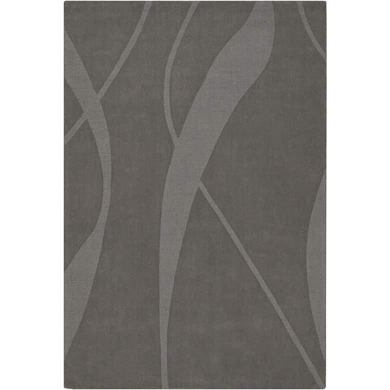 Chandra Jaipur JAI18909 5'x7' Gray Wool Area Rug