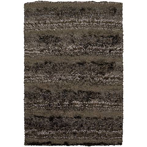 Chandra Kapaa KAP15502 Brown Shag Rug