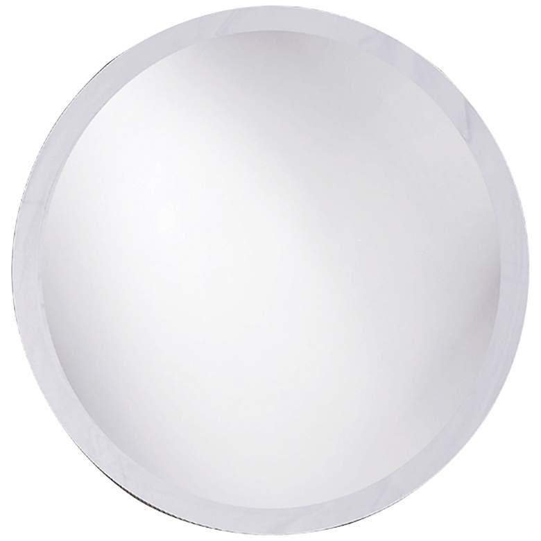 "Howard Elliott Clear 28"" Round Beveled Wall Mirror"