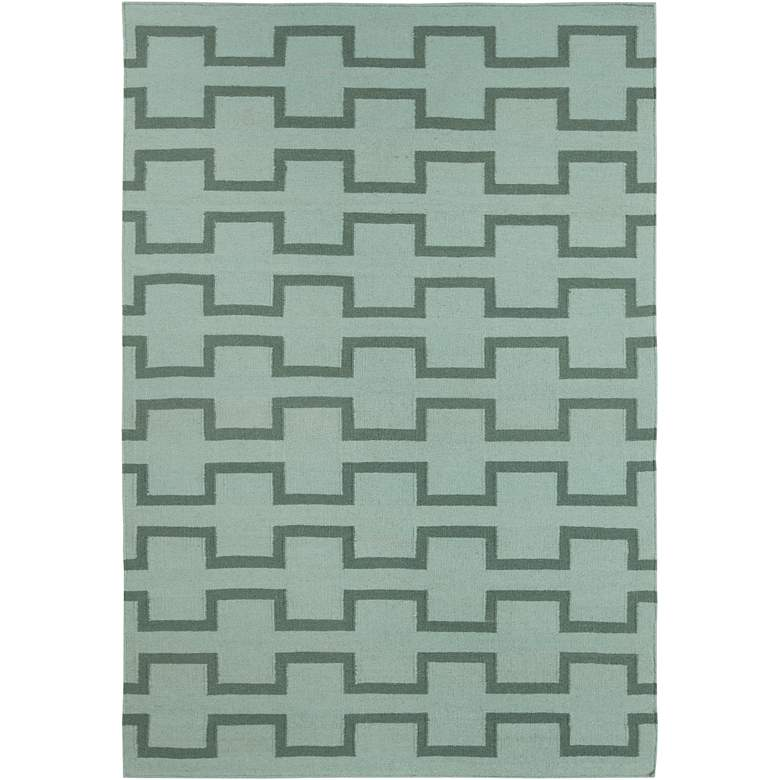 Chandra Lima LIM25701 5'x7' Green Wool Area Rug