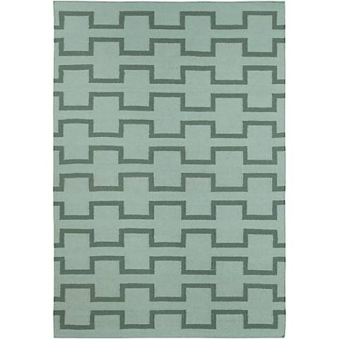 Chandra Lima LIM25701 Green Wool Area Rug