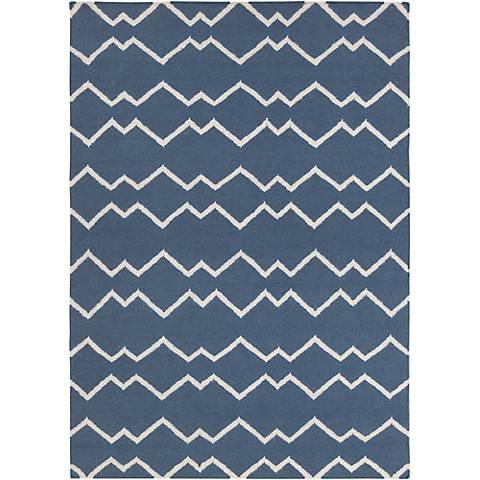 Chandra Lima LIM25704 Blue Wool Area Rug