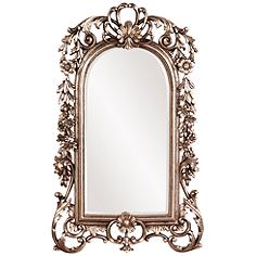 """Howard Elliott Sherwood Silver Leaf 14"""" x 22"""" Wall Mirror"""