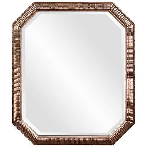 "Howard Elliott Virginia Silver Leaf 30"" x 36"" Wall Mirror"