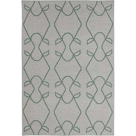 Chandra Lima LIM25707 Gray with Green Area Rug