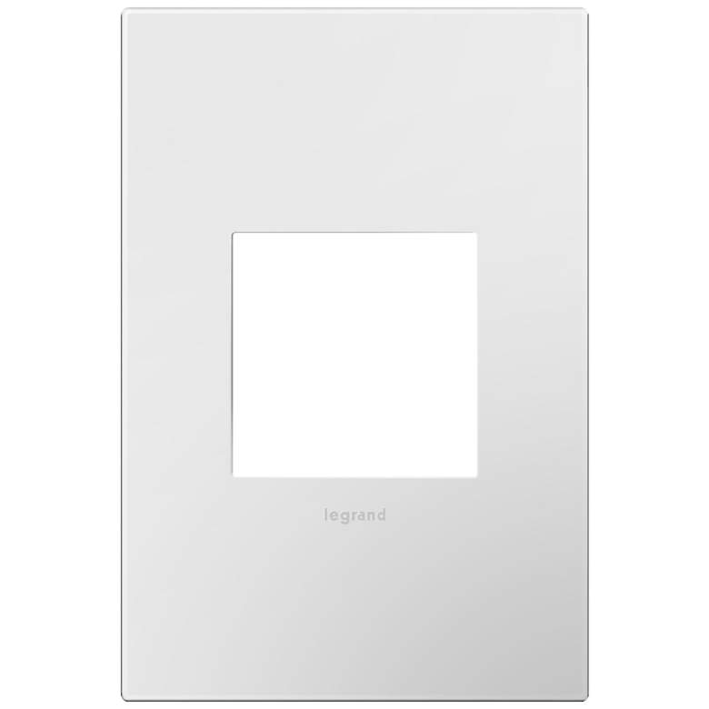 adorne® Gloss White w/ Black Back 1-Gang Snap-On Wall Plate