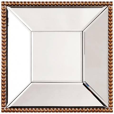 "Howard Elliott Lydia Gold 12"" Square Wall Mirror"