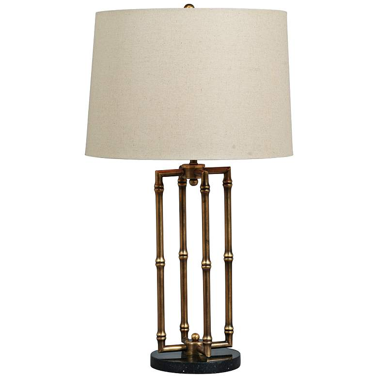 Miramar Hand-Polished Brass Table Lamp