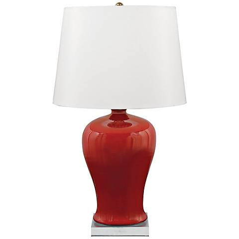 Marilyn Ruby Porcelain Table Lamp