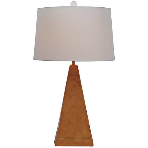 Luxor Amber Porcelain Table Lamp