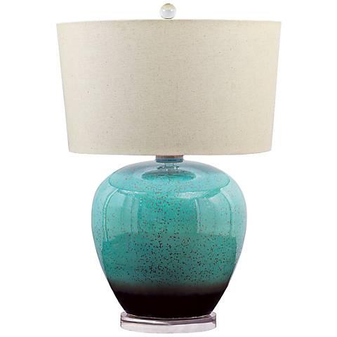 Laguna Turquoise Porcelain Table Lamp