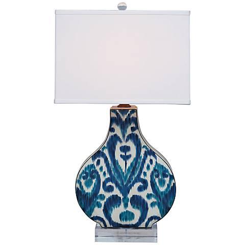 Greystone Indigo Ceramic Table Lamp