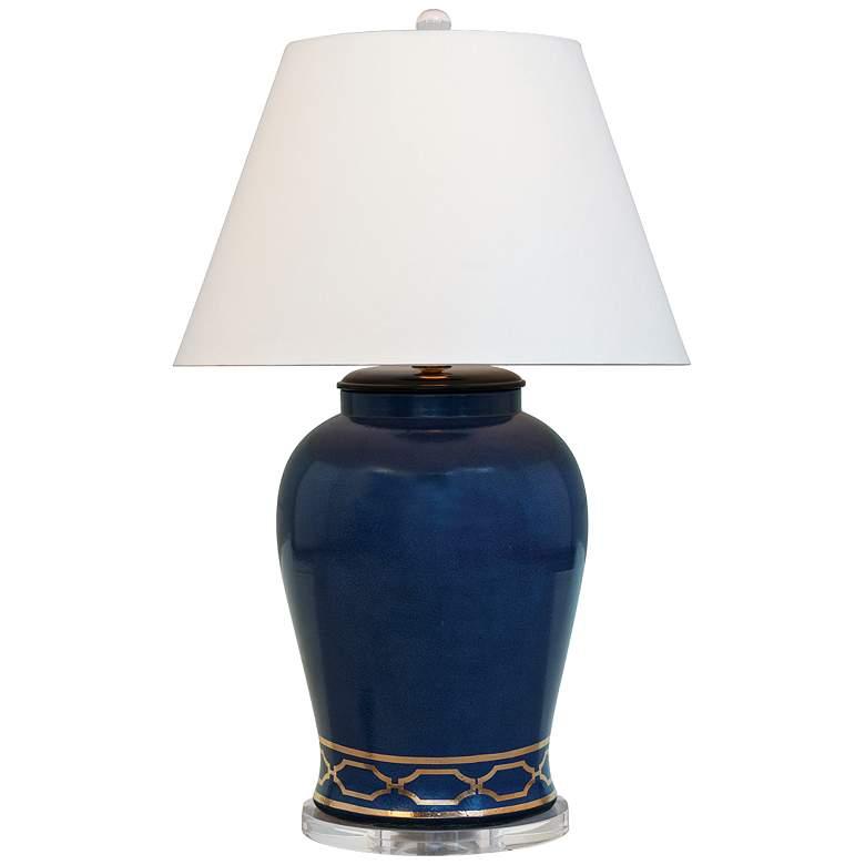 Pavillion Indigo Porcelain Table Lamp