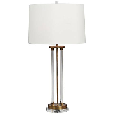 Moderne Aged Brass Table Lamp