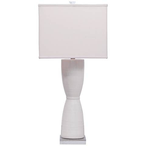 Lautner Cream Crackle Porcelain Table Lamp