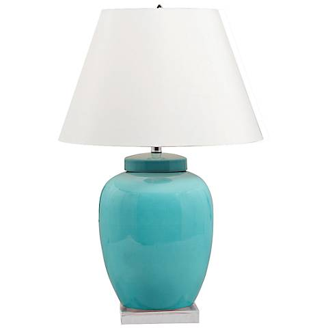 Sky Ginger Blue Porcelain Table Lamp