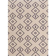 Chandra Lima LIM25709 5'x7' Beige and Gray Wool Area Rug
