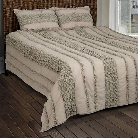 Georgette Taupe Quilted Comforter Set