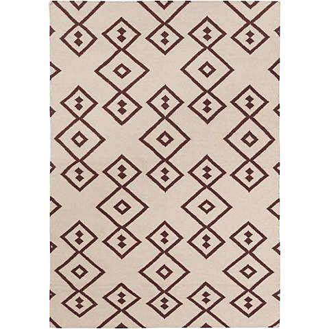 Chandra Lima LIM25710 Beige and Brown Area Rug