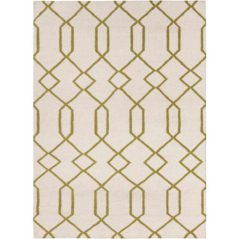 Chandra Lima LIM25714 5'x7' Beige and Green Area Rug