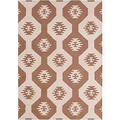 Chandra Lima LIM25715 5'x7' Beige and Brown Area Rug
