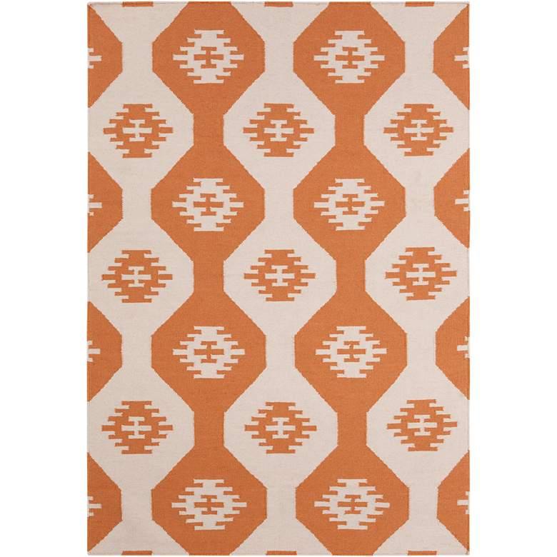 Chandra Lima LIM25716 5'x7' Orange Wool Area Rug