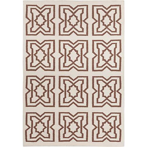 Chandra Lima LIM25718 Beige and Brown Area Rug
