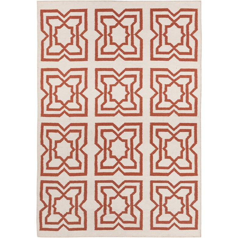Chandra Lima LIM25719 5'x7' Beige and Orange Area Rug