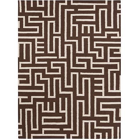 Chandra Lima LIM25725 Brown Wool Area Rug