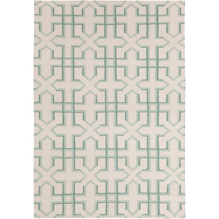 Lim25739 Green And White Area Rug
