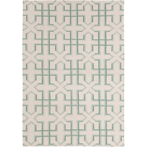 Chandra Lima LIM25739 Green and White Area Rug