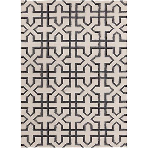 Chandra Lima LIM25740 Gray and White Wool Area Rug