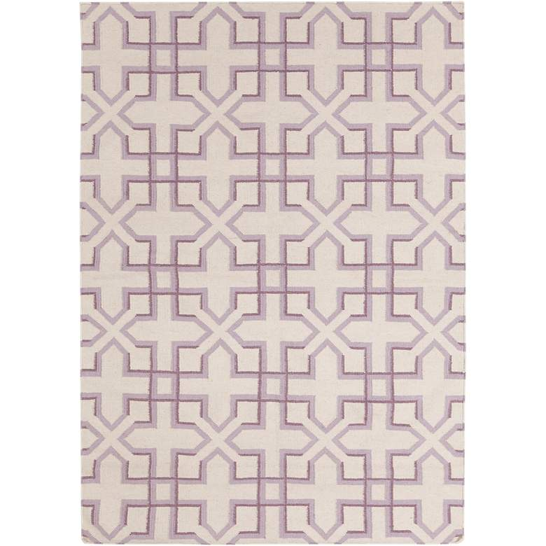 Chandra Lima LIM25741 5'x7' Purple and White Area Rug