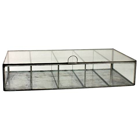 Pierre Rectangle Clear Glass Divided Case